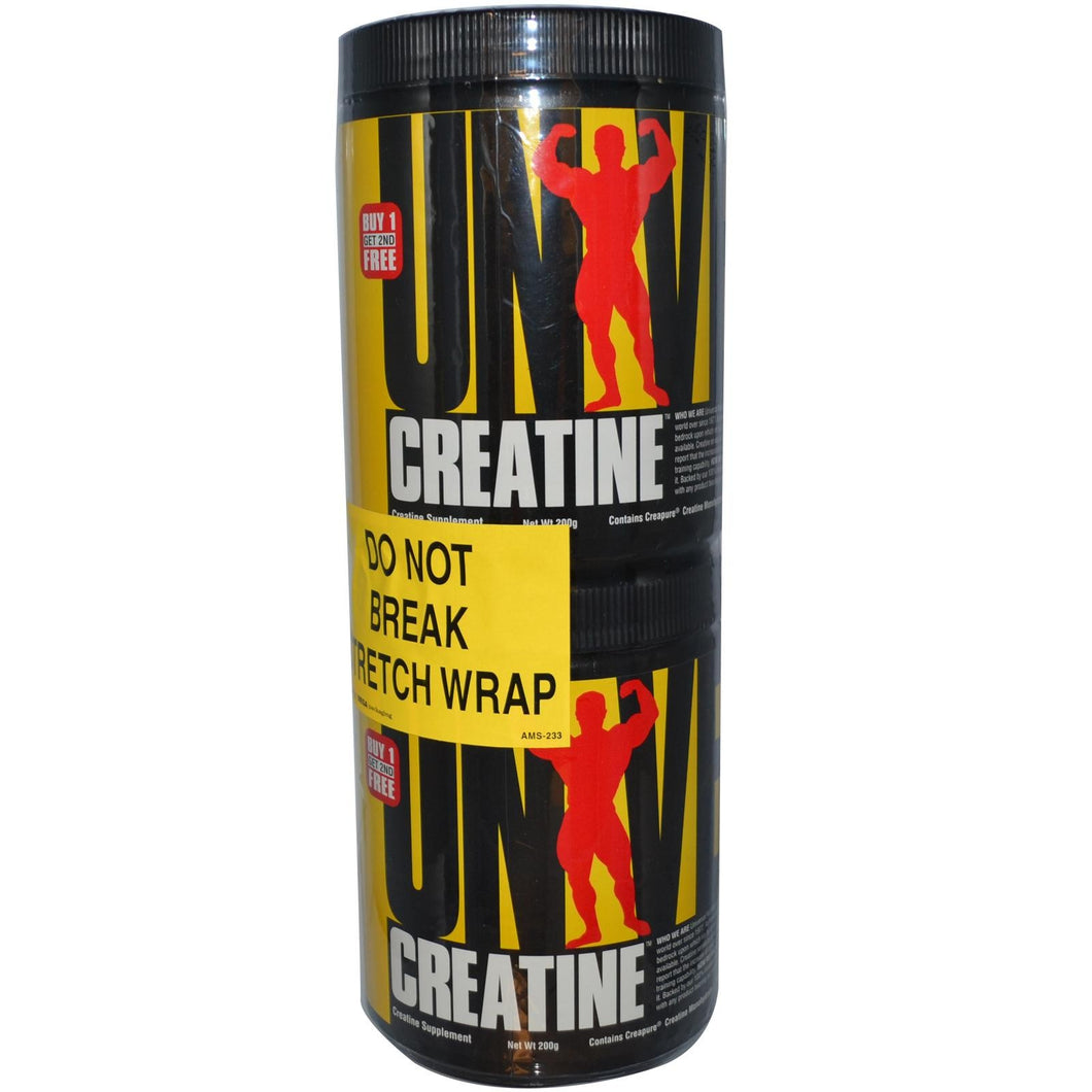 Universal Nutrition, Creatine, 2 Bottles, 200 g, Each