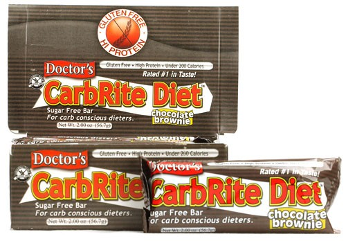 Universal Nutrition, Doctor's CarbRite, Diet Bars, Sugar - Free, Chocolate Brownie, 12 Bars, 56.7 g, 2 oz