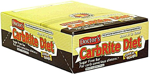 Universal Nutrition, Doctor's CarbRite Diet, Sugar-Free, Cookie Dough, 12 Bars, 56.7 g, 2 oz, Each