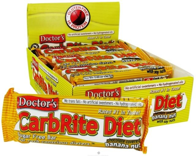 Universal Nutrition, Doctor's CarbRite Diet, Sugar Free, Chocolate Covered Banana Nut, 12 Bars, 56.7 g, 2 oz Each