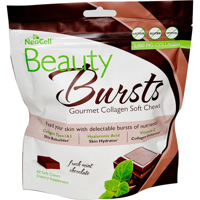 Neocell, Beauty Burst, Gourmet Collagen Softchews, Fresh Mint Chocolate, 60 Soft chews