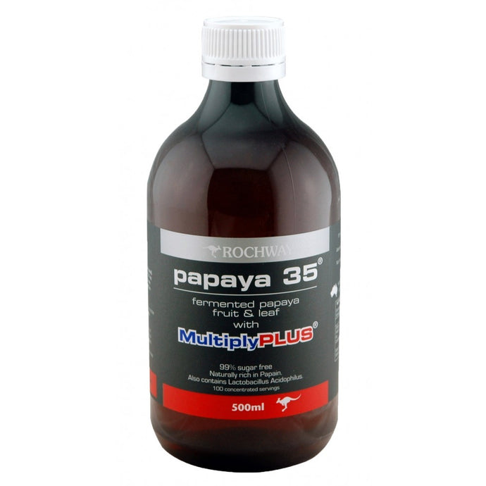 Rochway, Papaya 35, with MultiplyPLUS, Fermented Papaya Fruit & Leaf, 500 ml