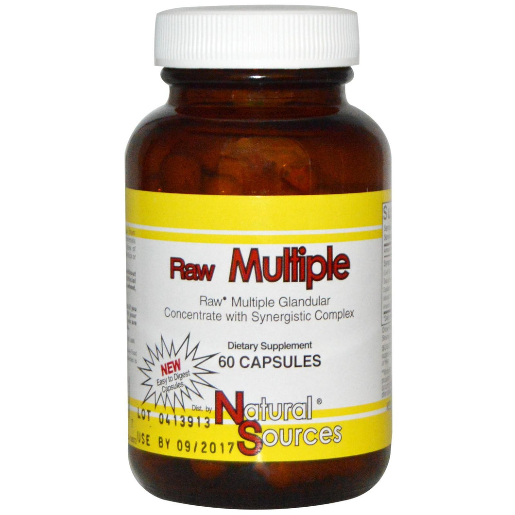 Natural Sources, Raw Multiple Glandular, 60 Capsules