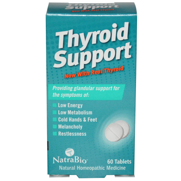 NatraBio Thyroid Support 60 Tablets - Natural Supplement