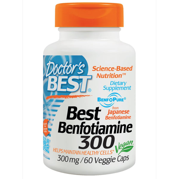 Doctor's Best Benfotiamine 300 300mg  60 VCaps - Dietary Supplement
