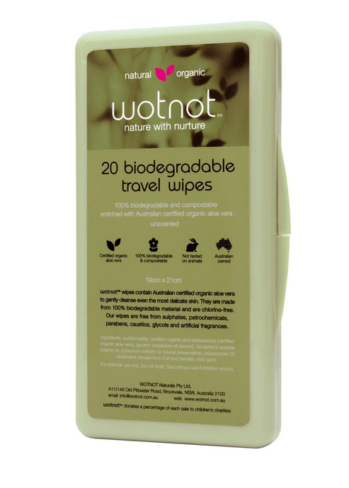 Wotnot, Biodegradable Travel Wipes, 20 Wipes