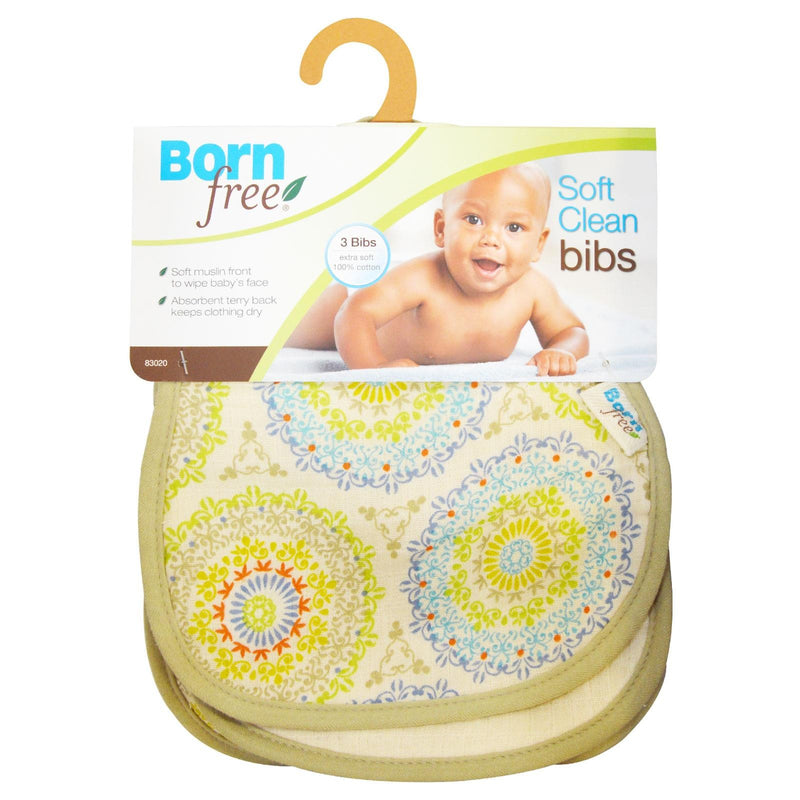 Born Free, Soft Clean Bibs, 3 Bibs