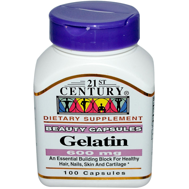 21st Century Health Care Gelatin 600 mg 100 Capsules