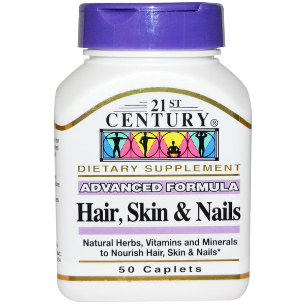 21st Century Health Care Hair, Skin & Nails Advanced Formula 50 Caplets