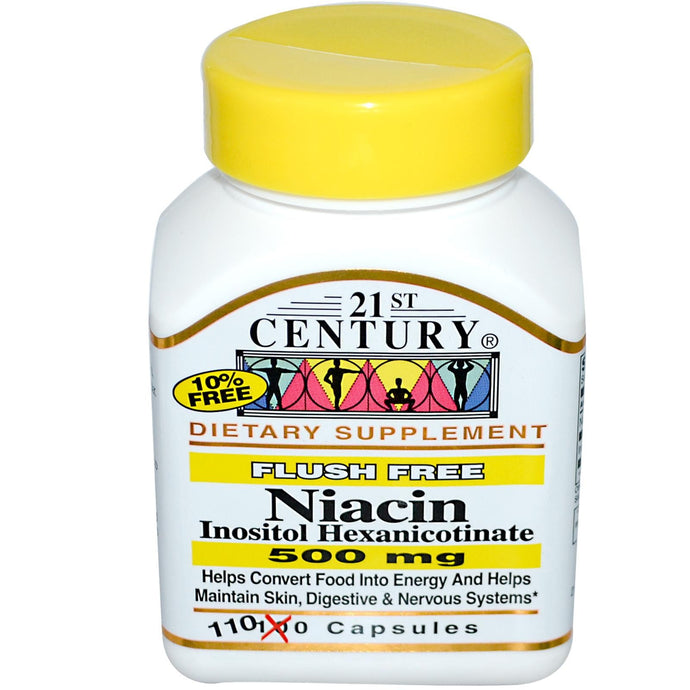 21st Century Health Care, Niacin Inositol Hexanicotinate, 500 mg, 110 Capsules