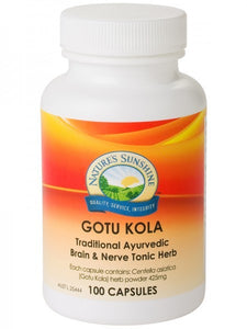 Nature's Sunshine, Gotu Kola, 395 mg, 100 Capsules - Herbal Supplement