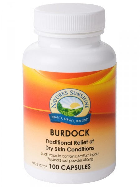 Nature's Sunshine, Burdock, 410 mg, 100 Capsules - Health Supplement