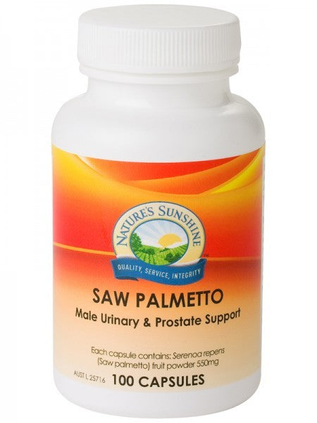 Nature's Sunshine, Saw Palmetto, 550 mg, 100 Capsules