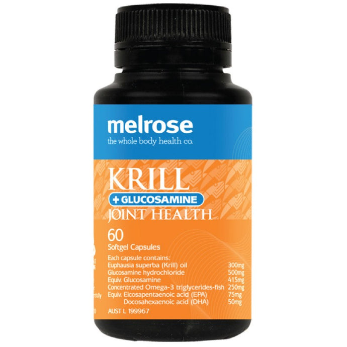 Melrose Krill + Glucosamine Joint Health 60 Softgels