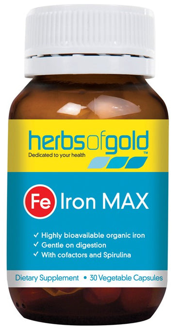 Herbs Of Gold Iron Max 30 Vcaps - Dietary Supplement