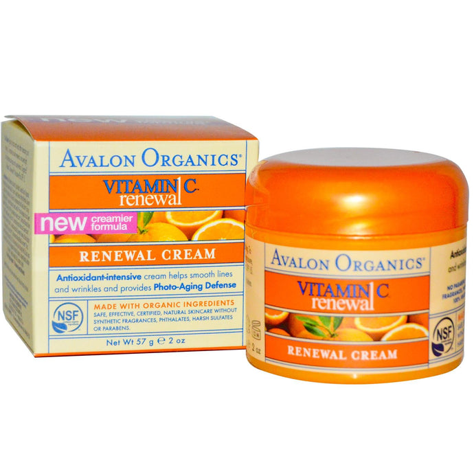 Avalon Organics, Vitamin C Renewal, Facial Cream, 57 Grams 2 oz