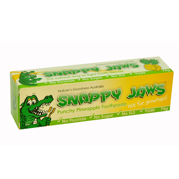 Nature's Goodness, Snappy Jaws Toothpaste, for Kids, Pineapple, 75 g