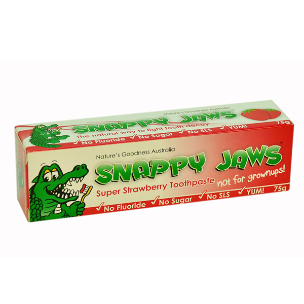 Nature's Goodness, Snappy Jaws Toothpaste, for Kids, Strawberry, 75 g