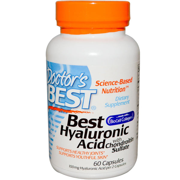 Doctor's Best Best Hyaluronic Acid with Chondroitin Sulfate 60 Capsules
