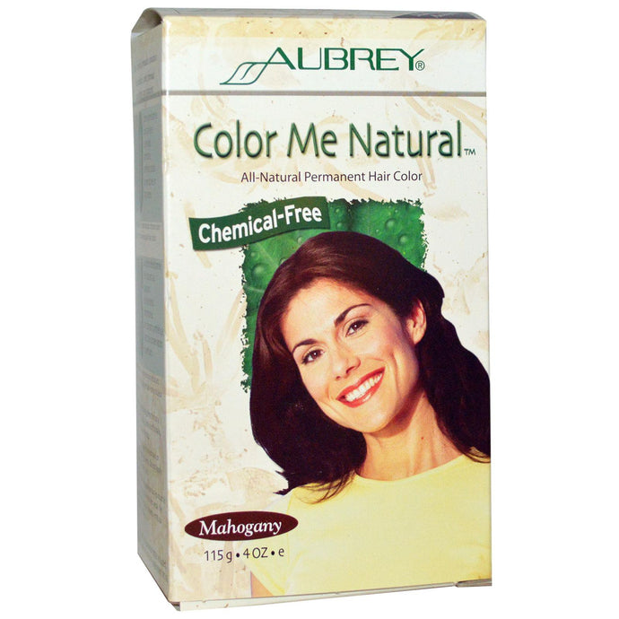 Aubrey Organics, Color Me Natural, 100 % Natural Permanent Hair Colour, Mahogany, 115 g, 4 oz