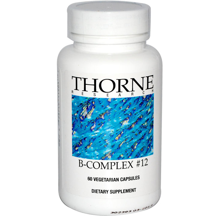 Thorne Research B-Complex 12 60 Veggie Capsules - Dietary Supplement