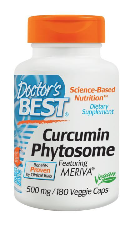 Doctor's Best Curcumin Phytosome featuring Meriva 500mg 180 VCaps