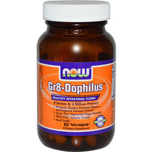 Now Foods Gr8-Dophilus 60 Vcaps - Dietary Supplement