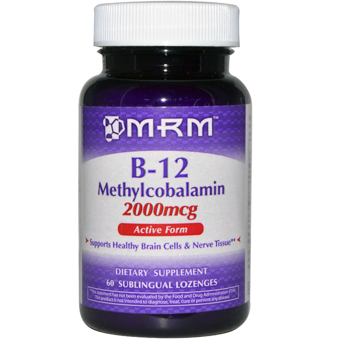 MRM, B-12 Methylcobalamin, 2000 mcg, 60 Sublingual Lozenges