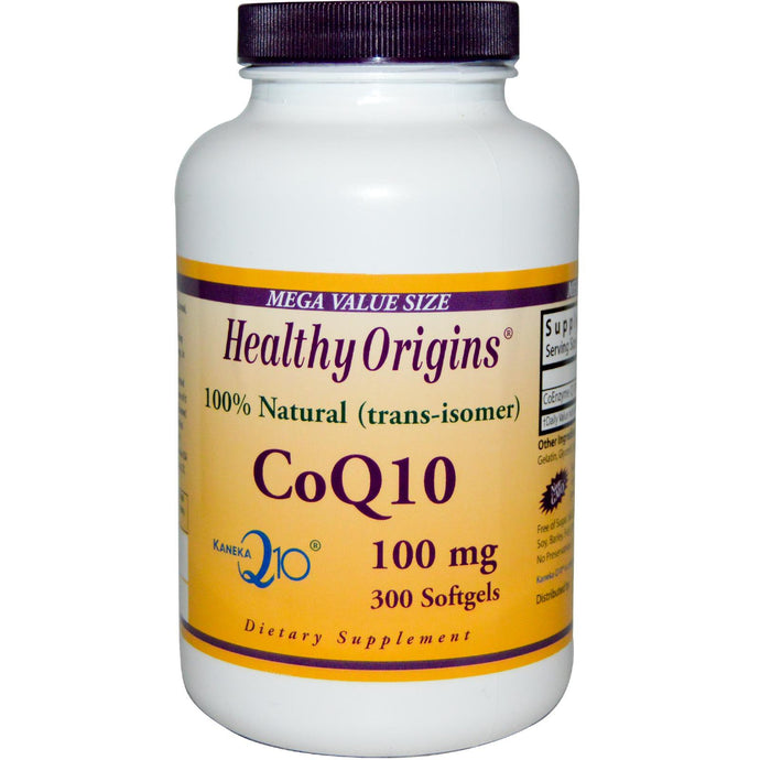 Healthy Origins CoQ10 Kaneka Q10 100 mg 300 Softgels