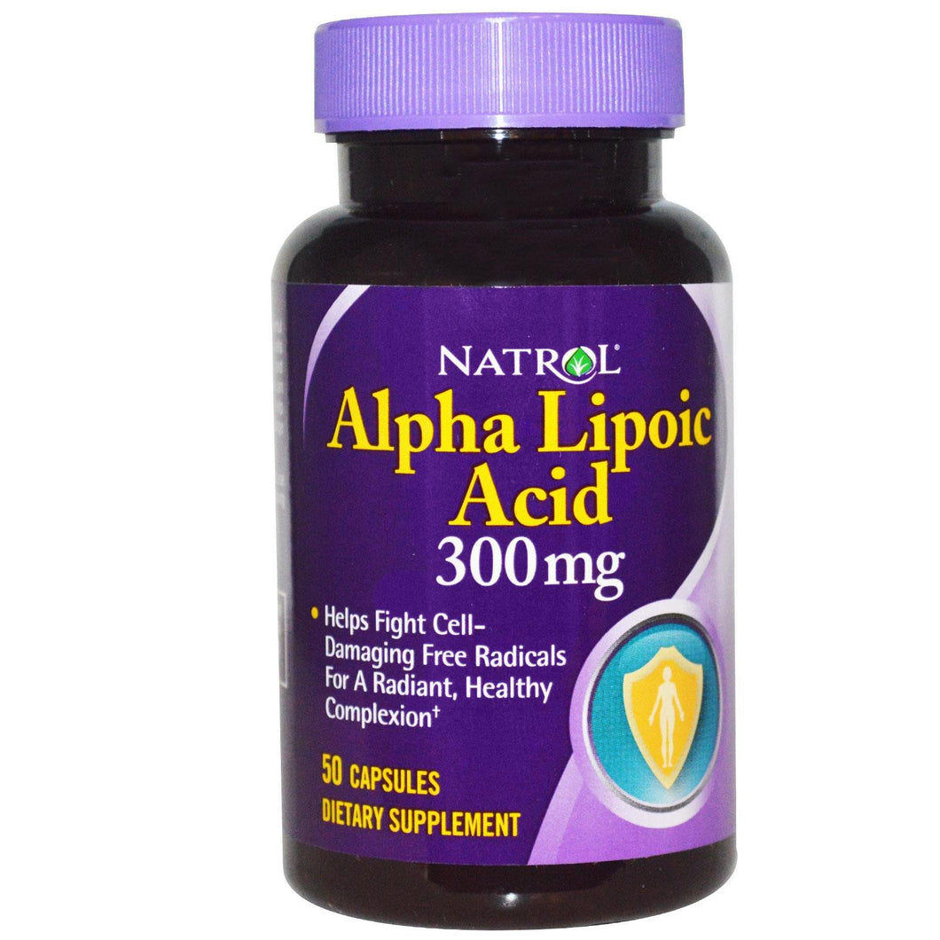 Natrol Alpha Lipoic Acid 300mg 50 Capsules - Dietary Supplement