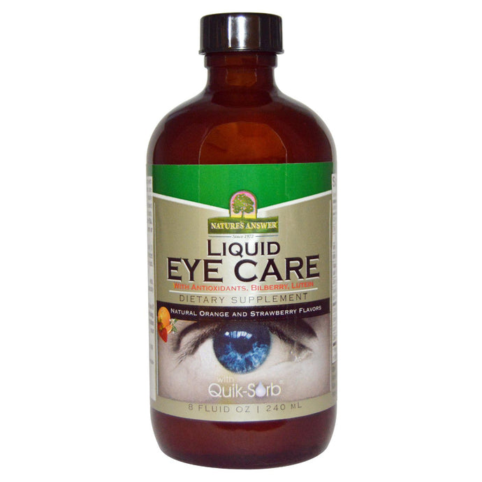 Nature's Answer, Liquid Eye Care, Natural Orange & Strawberry Flavors, 240 ml, 8 fl oz