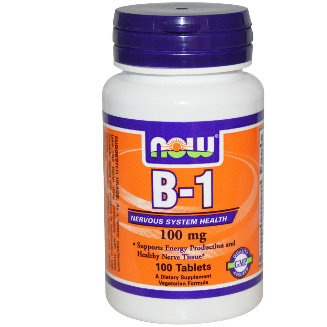 Now Foods, Vitamin B1, 100 Tablets
