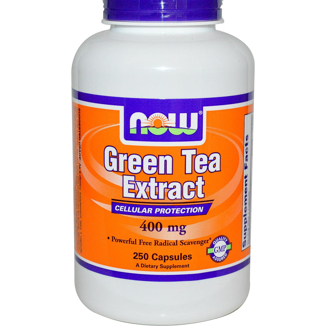 Now Foods Green Tea Extract 400mg 250 Capsules - Dietary Supplement