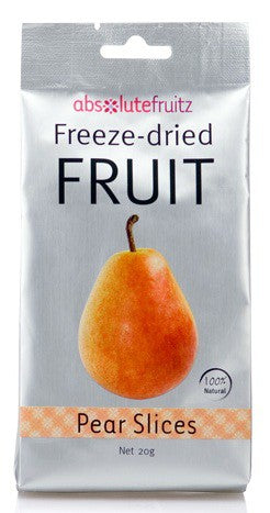 Absolute Fruitz, Freeze-Dried Fruit, Pear Slices, 20 g