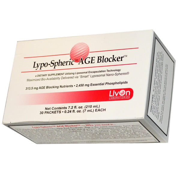 LivOn Laboratories, Lypo-Spheric AGE Blocker, 30 Packets (7ml) Each