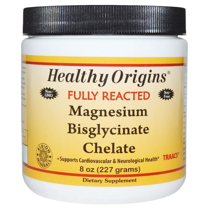 Healthy Origins, Fully Reacted, Magnesium Bisglycinate Chelate, 227 g