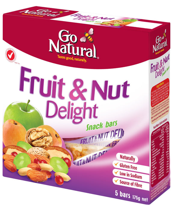 Go Natural, Multi Pack, Fruit & Nut Delight, 175 g, 5 Packs X 8 Snack Bars