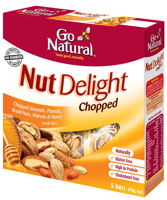 Go Natural, Multi Pack, Chopped, 175 g, 5 Packs X 8 Snack Bars