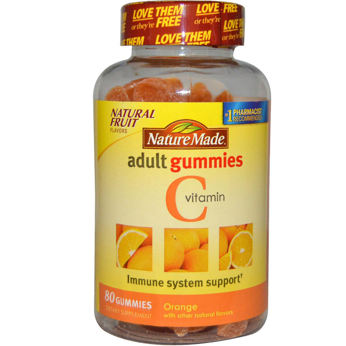 Nature Made, Vitamin C, Adult Gummies, Orange, 80 Gummies