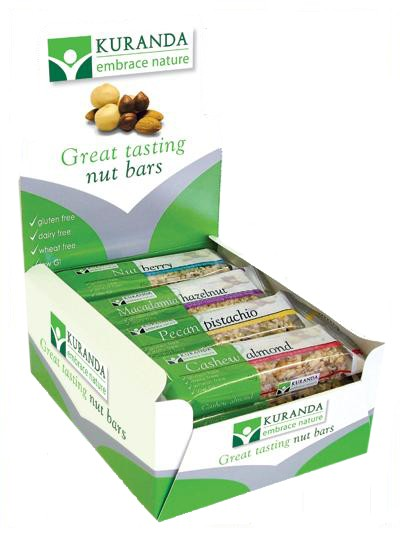 Kuranda, Natural Bars, Macadamia Hazelnut, 45 g Each X 16 Bars