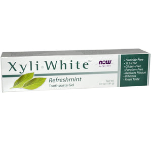 TWIN PACK- 2 X Tubes of Xyli-White Toothpaste Gel Now Foods Refreshmint 181 Grams