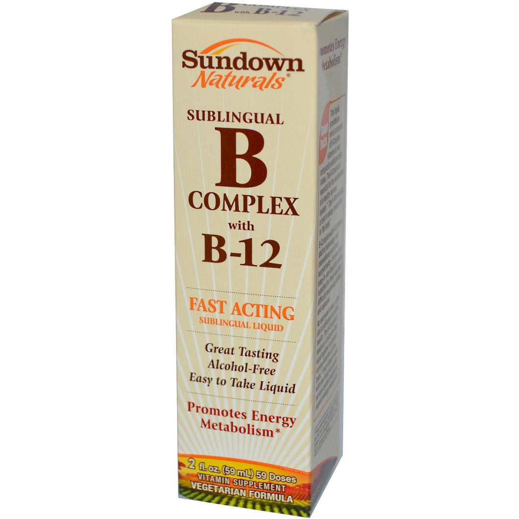 Rexall Sundown Naturals, SubLingual B Complex with B-12 (59ml)