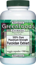 Load image into Gallery viewer, Swanson GreenFoods Formulas 100% Fucoidan Extract 500mg 60 Veg Capsules