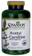 Load image into Gallery viewer, Swanson Premium Acetyl L-Carnitine 500mg 240 Capsules