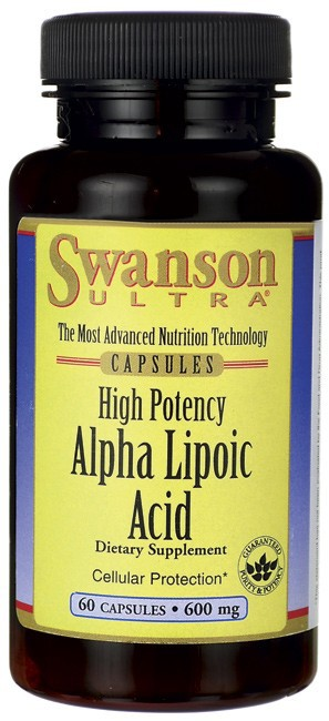 Swanson Ultra Alpha Lipoic Acid 600mg 60 Capsules - Dietary Supplement