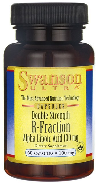 Swanson Ultra Double-Strength R-Fraction Alpha Lipoic Acid 100mg 60 Capsules