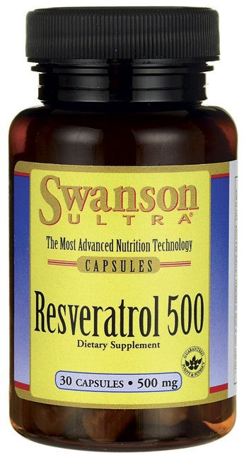 Swanson Ultra Resveratrol 500 500mg 30 Capsules - Dietary Supplement