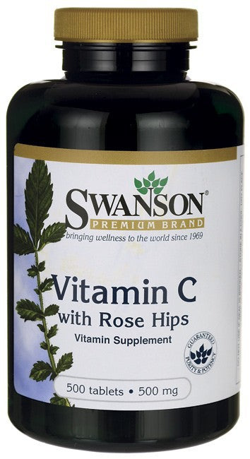 Swanson Premium Vitamin C 1000mg with Rose Hips 2500 Tablets