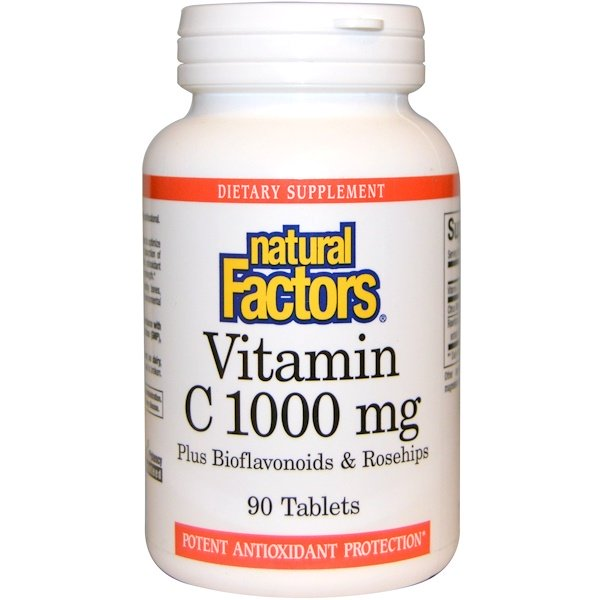 Natural Factors Vitamin C 1000mg 90 Tablets - Dietary Supplement