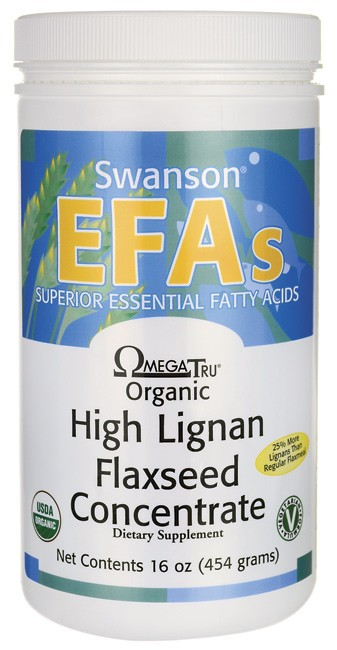 Swanson EFAs Organic LignaMax Flaxseed Concentrate Powder 454gm